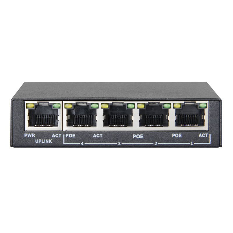 Jovision PS04 - PoE Switch, 4x RJ45 Ports