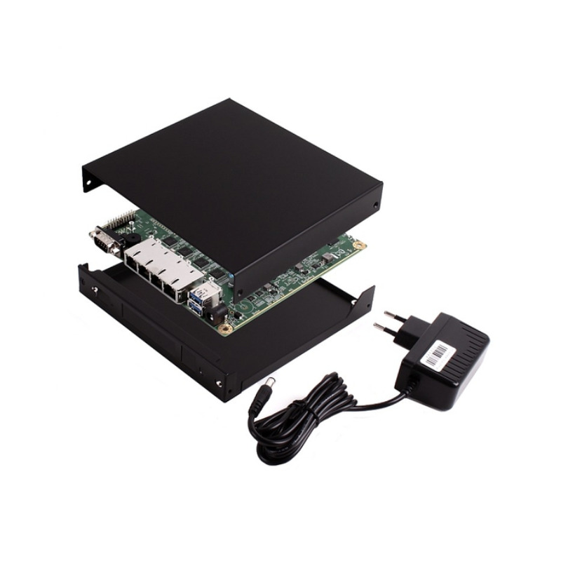 OPNsense Ready System - APU4C4 Board, 4 GB RAM, 8 GB SD Card, black