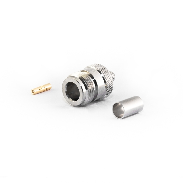 Type N Female Connector for H155 Cable, Crimp Version