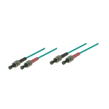 LWL-Kabel, 2 m, Duplex OM3 (Multimode, 50/125) ST/ST, Good Connections(R)