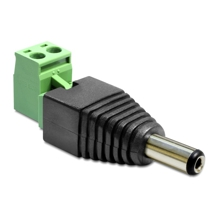 Delock Adapter - DC male 5.5 x 2.1 mm > Terminal Block 2 pin, 2-part