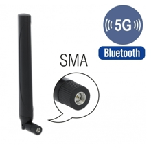 Delock 5G LTE Antenna SMA plug -0.5 - 2.3 dBi omnidirectional with tilt joint black