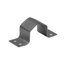 Televes Pole Clamp with Double Hole, Galvanized, 48 mm Pole Diameter