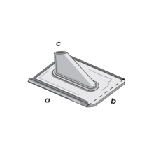 Televes Soft Zinc Tile with Support for Pole Mounting, Blank