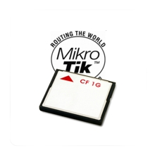 1 GB Compact-Flash card with Mikrotik RouterOS Level 4