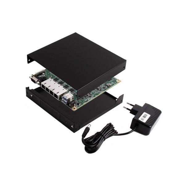 OPNsense Ready System - APU4C4 Board, 4 GB RAM, 8 GB SD Card, black