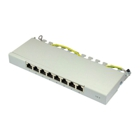 Good Connections Desktop Patch Panel - Cat. 6, 8 Ports, Shielded, Grey