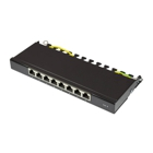 Good Connections Desktop Patch Panel - Cat. 6, 8 Ports, Shielded, Black