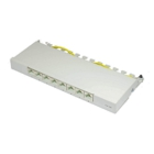 Good Connections Desktop Patch Panel - Cat. 6a, 8 Ports, Shielded, Grey