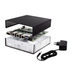 PC Engines APU2D4 Embedded Box Bundle - APU2D4, 16 GB mSATA SSD, Embedded Box