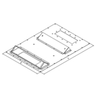 Triton RAC-RV-X61-Y6 - Additional panel for mounting the air conditioning unit type X1, X2, along the cabinet