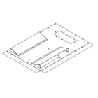 Triton RAC-RV-X68-Z6 - Additional panel for mounting the air conditioning unit type X1, X2, across the cabinet