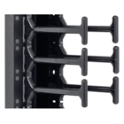 Triton RAB-VP-H93-X1 - Cable management panel 45 U, double-row comb rail