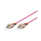 LWL-Kabel, 1 m, Duplex OM4 (Multimode, 50/125) SC/SC, Good Connections(R)