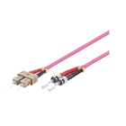 LWL-Kabel, 2 m, Duplex OM4 (Multimode, 50/125) ST/SC, Good Connections(R)