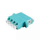 Fiber optic duplex coupler 4-way LC singlemode, plastic housing: SC, blue
