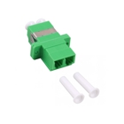 Fiber optic duplex coupler LC to APC, plastic housing: SC simplex, green