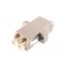 Fiber optic duplex coupler LC to LC, plastic housing: gray