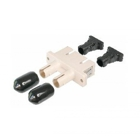 Fiber optic duplex coupler ST to SC, plastic housing