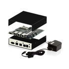 PC Engines ALIX2E13 Embedded Box Bundle - ALIX2E13, 4 GB CF-Karte, Embedded Box