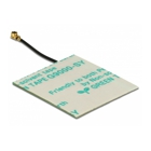Delock WLAN Antenna - WLAN 802.11 b/g/n, MHF(R) I plug, 30x30 mm, 2 dBi, 5 cm, PCB internal, self adhesive