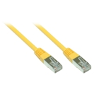 Patch Cable Cat. 5e - 1 m, F/UTP, yellow