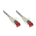 Patch Cable, Cat. 6, S/FTP, PiMF, PVC, 250 MHz, transparent, 0.5 m