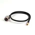 0,5 m HDF200 Antenna Cable, RP-SMA Male to Type N Male (Shell Hexagon)