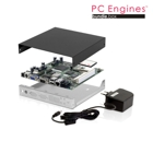 PC Engines ALIX.1E bundle (board, PSU, CF card, enclosure)